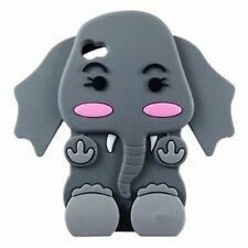 Grey Silicone ELEPHANT Phone Case / Cover for Apple Iphone 4 / 4S