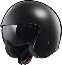 LS2 Helmet Bike Jet Of599 Spitfire Mono Gloss Black M