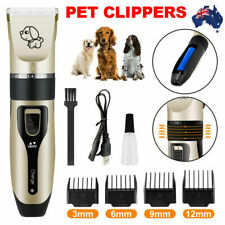 Dog Clipper Comb Set Hair Trimmer Blade Cat Pet Grooming Horse Cordless Electric