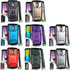 For LG Stylo 4 Heavy Duty Shockproof Metal Case Phone Cover