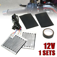12V Motorcycle Hand Grip Heating Handle Bar Grip Heater Warmer Kit w/ Switch USA