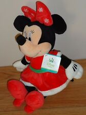 "Disney Baby Christmas Minnie Mouse 13"" stuffed plush w/Tag"