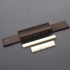 3pcs Ivory Nut + Saddle Slotted + 110mm Rosewood Bridge for Ukulele Uke Guitar