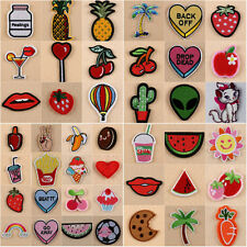 8pcs Embroidery Sewing&Iron On Patch Applique Clothes Jeans Badge Pineapple Love
