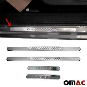 Fits Ford Focus Door Sill Plate Cover Trim Stainless Steel 4 Pcs