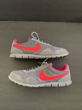 Nike Women 525323-066 Running /Tennis Shoes /Part Suede- Size 9.5 Gray w/ pink
