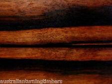 Rare Borneo Ebony Wood Knife Scales (Bookmatched)