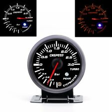 60mm LED Pointer Turbo Boost Gauge Bar Meter Black 0-3Bar Vacuum Press Meter 12V