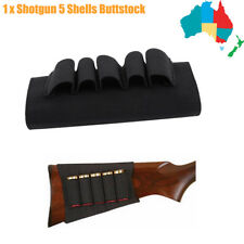 Black 12GA Shotgun Butt Stock 5 Shell Cartridge Holder Buttstock Ammo Shot Gun