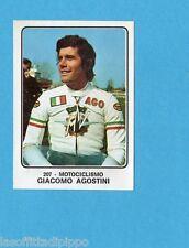 CAMPIONI dello SPORT 1973/74-Figurina n.207- AGOSTINI - ITALIA -MOTOCICLISMO-Rec