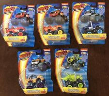 Set Lot Of 5 Blaze And The Monster Machines Die Cast RACING FLAG & DRAG RACE