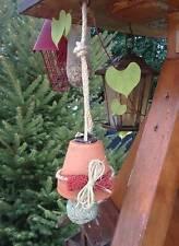 mangeoire oiseaux en poterie à suspendre