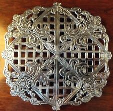 Silverplate Expandable Trivet Beautiful Adjustable Reticulated Warming Hot Plate