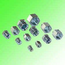 BSPP Cap and Plug Hydraulic Adapter Fittings-24 Pack