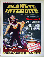 "HIQ XL Facs~1956 ""Forbidden Planet"" French Movie Poster 36""x28"" Robby the Robot"