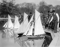 """1910-1915 Start of Toy Yacht Race, NYC, NY Vintage/ Old Photo 8.5"""" x 11"""" Reprint"""