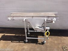 """18"""" x 8' Long SS Food Grade Conveyor with Plastic Belt, Bottle / Food Conveying"""