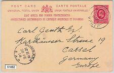 51882 - KUT East Africa -  POSTAL HISTORY - POSTAL STATIONERY CARD from JINJA