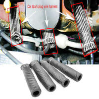 8pcs 1200° Car Spark Plug Wire Boot Protector Sleeve Heat Shield Cover fer