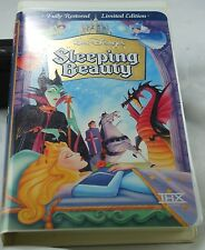 SLEEPING BEAUTY (VHS,1959) FULLY RARE  LIMITED EDITION WALT DISNEY  MASTERPIECE