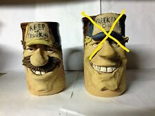 TRUCKER FACE MUG in Handcrafted Stoneware -Choose 1