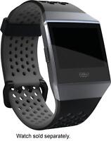 Fitbit - Sport Band Large Watch Strap for Fitbit Ionic - Black & charcoal