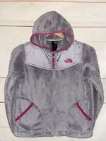 Girl's THE NORTH FACE Osito Oso Fleece Jacket Hoodie Gray Medium M 10/12 Kids A7