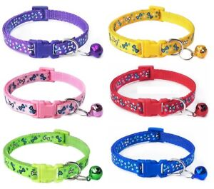 Dog Collar Nylon Clip Bone Puppy Small XS Tiny Strong Tough UK Blue Pink Purple