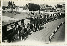 PHOTO ANCIENNE - VINTAGE SNAPSHOT - VÉLO BICYCLETTE CHAUMONT - BIKE BICYCLE 1940