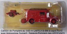 n° 89 LAFFLY B 686 Camion Pompiers des Sapeurs-Pompiers des ARDENNES 1/43 Neuf