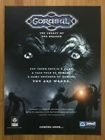 Gorasul: The Legacy of the Dragon PC 2001 Vintage Print Ad/Poster Official Art