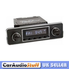 Retrosound Laguna Black Classic Car Euro Classic Spindle Style Radio with Aux In