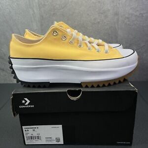 Converse Run Star Hike Low Platform Size 9.5 Mens Citron Pulse Yellow Sneakers
