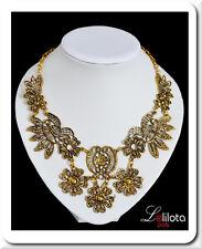 Halskette Filigrann  Statement Kette Spitze Kragen Collier Vintage Metall