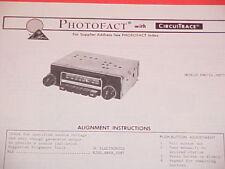 1975 MOTOROLA AM-FM-MPX RADIO SERVICE MANUAL FM675A & FM775AX CHEVROLET FORD
