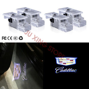 4X For Cadillac CTS SRX ATS XTS Laser LED Car Door Ghost Shadow Projector Light