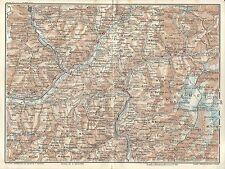 Carta geografica antica VALTELLINA APRICA TONALE EDOLO 1914 Old antique map