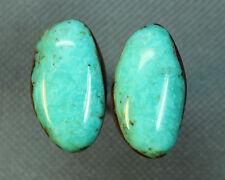 Turquoise cabochon Kingman  mine cab Earring set  Unique  ,A-126