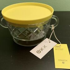 New 12oz Plastic Bowl Yellow Lid Set Philippe Starck for Target