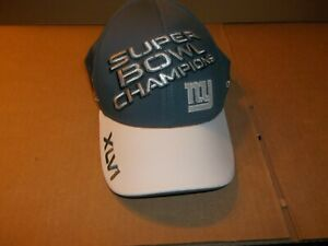 NEW YORK GIANTS NFL XLVI SUPER BOWL CHAMPIONS REEBOK PRO FLEX BALL CAP HAT