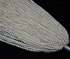 Wholesale 10 strands 3.5-4mm white genuine fresh water pearl lots Free shipping