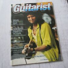 Brian May - Queen : Guitarist UK Guitar Magazine March 1987 Issue
