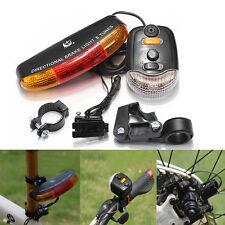 Kit Lumière Vélo 3 en 1 Tournez Frein Signal 7 LED Flash Lampe électrique Corne