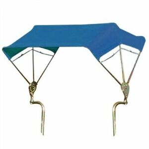 "Umbrella Buggy Top 3 Bow 48"" Frame & Blue Cover Fits Ford LS"