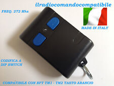 RADIOCOMANDO COMPATIBILE BFT TM2 (T. ARANCIO) COD. A DIP SWITC COME L'ORIGINALE