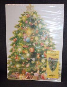 Sealed VINTAGE Christmas Tree 3-D ADVENT CALENDAR Maja Dusikova