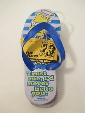 Nip Boys The Simpsons 29 Years Blue Grey Yellow Flip Flops~Size S 12-13