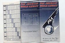 20922 PAN AMERICAN WORLD AIRWAYS PAA Flugplan Deutschland Österreich 1.9. 1951