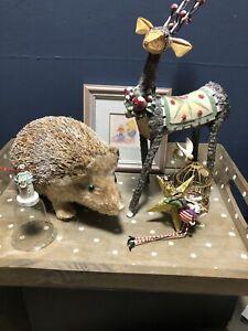 Gisela Graham 5 Rare Christmas Decorations (faulty) Bear WaterColour