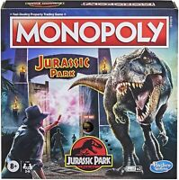 Monopoly Jurassic Park Edition Board Game Hasbro Gaming - New 2021
